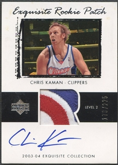 2003/04 Exquisite Collection #72 Chris Kaman Rookie Patch Auto #178/225