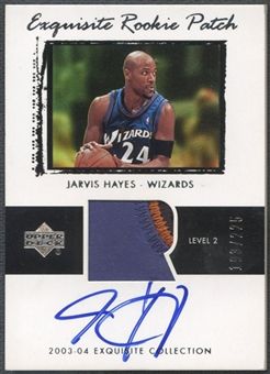2003/04 Exquisite Collection #73 Jarvis Hayes Rookie Patch Auto #193/225