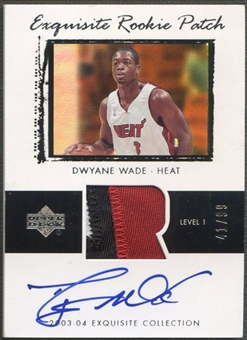 2003/04 Exquisite Collection #74 Dwyane Wade Rookie Patch Auto #41/99