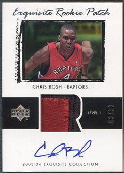 2003/04 Exquisite Collection #75 Chris Bosh Rookie Patch Auto #83/99
