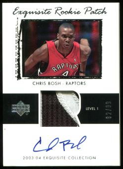 2003/04 Exquisite Collection #75 Chris Bosh Rookie Patch Auto #82/99