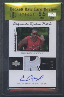 2003/04 Exquisite Collection #75 Chris Bosh Rookie Patch Auto #25/99 BGS 9.5 Raw Card Review
