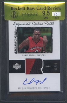 2003/04 Exquisite Collection #75 Chris Bosh Rookie Patch Auto #30/99 BGS 9.5 Raw Card Review