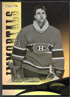 2012/13 Certified #123 Patrick Roy Immortals Mirror Black #1/1