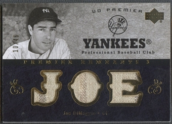2007 Upper Deck Premier #JD Joe DiMaggio Remnants Triple Gold Jersey #10/46