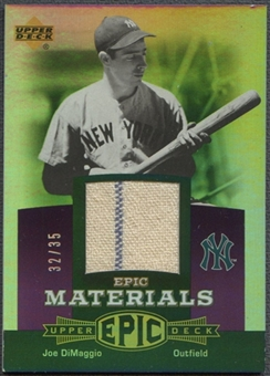 2006 Upper Deck Epic #JD3 Joe DiMaggio Materials Dark Purple Jersey #32/35