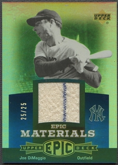 2006 Upper Deck Epic #JD2 Joe DiMaggio Materials Blue Jersey #25/25
