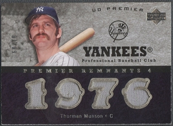 2007 Upper Deck Premier #TM Thurman Munson Remnants Quad Jersey #68/70