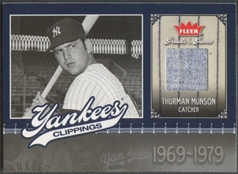 2006 Greats of the Game #TM Thurman Munson Yankee Clippings Memorabilia Pants