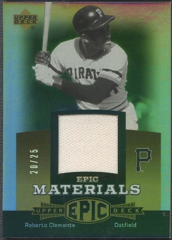 2006 Upper Deck Epic #CL1 Roberto Clemente Materials Gold Pants #20/25