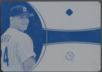 2006 Ultimate Collection #MC Miguel Cabrera Game Materials Printing Plate Cyan #1/1