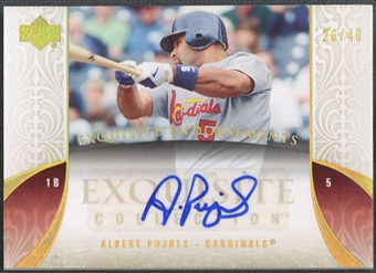 2006 Exquisite Collection #AP Albert Pujols Endorsements Auto #26/40