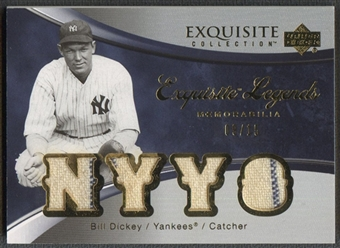 2006 Exquisite Collection #BD2 Bill Dickey Legends Memorabilia Jersey #09/15