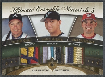 2006 Ultimate Collection #JCZ Chipper Jones Miguel Cabrera Ryan Zimmerman Ensemble Triple Patch #07/20