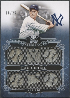 2010 Topps Sterling #SSR31 Lou Gehrig Sterling Stats Relics Six Jersey #18/25