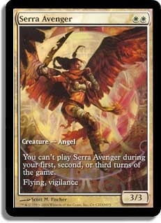 Magic the Gathering Promo Single Serra Avenger Foil (Textless)
