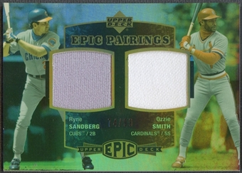 2006 Upper Deck Epic #SS Ryne Sandberg & Ozzie Smith Pairings Jersey #74/99