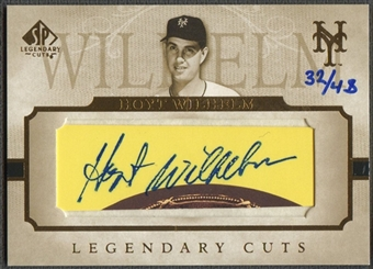 2005 SP Legendary Cuts #JW Hoyt Wilhelm Cut Auto #32/48