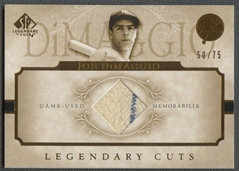 2005 SP Legendary Cuts #JD Joe DiMaggio Material Jersey #50/75