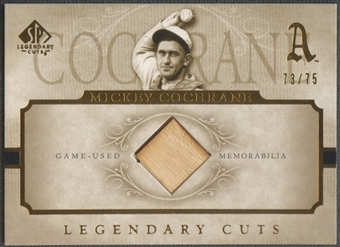 2005 SP Legendary Cuts #CO Mickey Cochrane Material Bat #73/75