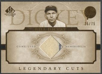2005 SP Legendary Cuts #BD Bill Dickey Material Jersey #25/75