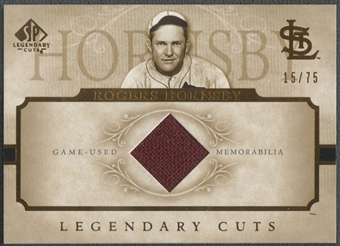 2005 SP Legendary Cuts #RH Rogers Hornsby Material Jacket #15/75
