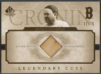 2005 SP Legendary Cuts #CR Joe Cronin Bat Material #22/75