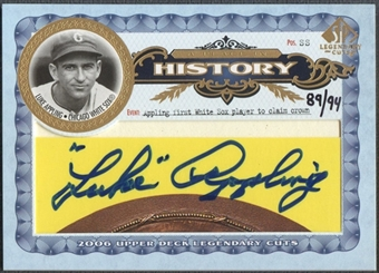 2006 SP Legendary Cuts #LA Luke Appling A Place in History Cuts Auto #89/94