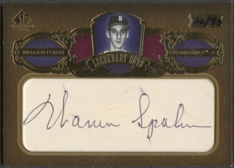 2007 SP Legendary Cuts #SW Warren Spahn Legendary Cut Signatures Auto #06/95