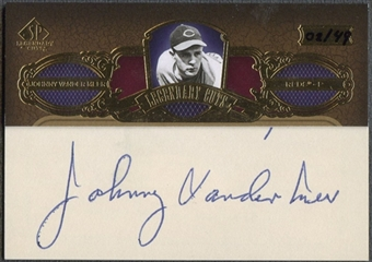 2007 SP Legendary Cuts #JV Johnny Vander Meer Legendary Cut Signatures Auto #02/49