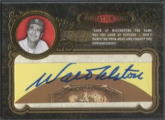 2007 SP Legendary Cuts #WA Walter Alston Quotation Cuts Auto #13/31