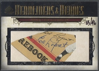2008 SP Legendary Cuts #EL Ed Lopat Headliners and Heroes Cut Auto #03/46