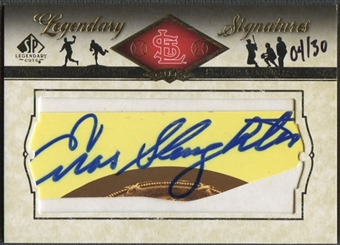 2008 Upper Deck SP Legendary Cuts #ES Enos Slaughter Legendary Signatures Cut Auto #04/30