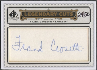 2009 SP Legendary Cuts #LC227 Frank Crosetti Legendary Cut Signatures Auto #24/50