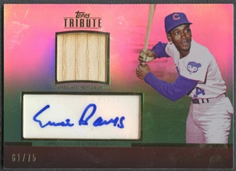 2011 Topps Tribute #EB Ernie Banks Bat Auto #61/75
