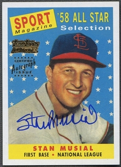 2001 Topps Team Topps Legends #TT3R Stan Musial Auto 58 AS