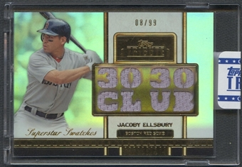 2012 Topps Tribute #JE Jacoby Ellsbury Superstar Swatches Jersey #08/99