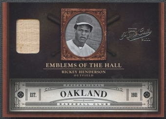 2011 Prime Cuts #5 Rickey Henderson Emblems of the Hall Materials Bat #28/99