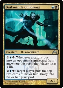 Magic the Gathering Gatecrash Single Duskmantle Guildmage FOIL