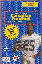 1991 All World CFL Football Wax Box