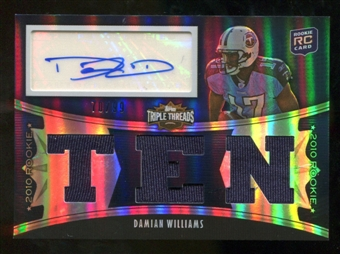 2010  Topps Triple Threads #119B Damian Williams Jersey Autograph /99