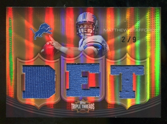2010  Topps Triple Threads Relic Gold #TTR145 Matthew Stafford /9