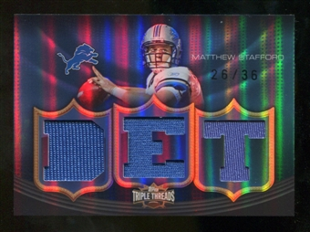 2010  Topps Triple Threads Relic #TTR145 Matthew Stafford /36