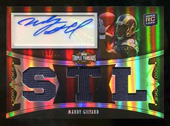 2010  Topps Triple Threads Sepia #128A Mardy Gilyard Jersey Autograph /70