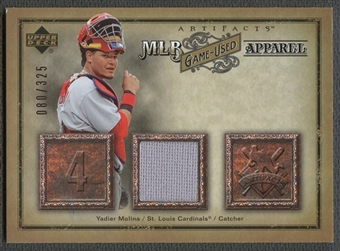 2006 Artifacts #YM Yadier Molina MLB Game-Used Apparel Jersey #080/325