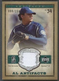 2006 Artifacts #FHA Felix Hernandez AL Artifacts Green Jersey #088/150