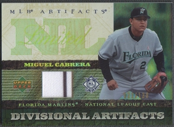 2007 Artifacts #MC Miguel Cabrera Divisional Artifacts Limited Jersey #021/130