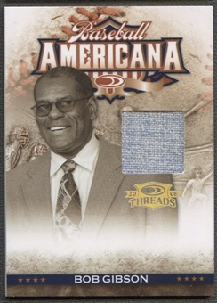 2008 Donruss Threads #41 Bob Gibson Baseball Americana Materials Jersey #019/100