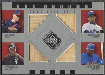 2002 Upper Deck Diamond Connection #TGTD Jim Thome, Juan Gonzalez, Frank Thomas, And Carlso Delgado Bat