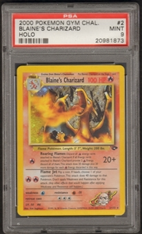 Pokemon Gym Challenge Single Blaine's Charizard 2/132 - PSA 9